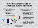 individual influences on consumer buying decisions