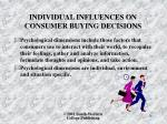 individual influences on consumer buying decisions2