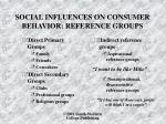 social influences on consumer behavior reference groups1