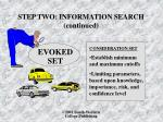 step two information search continued1