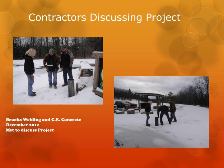 Contractors discussing project