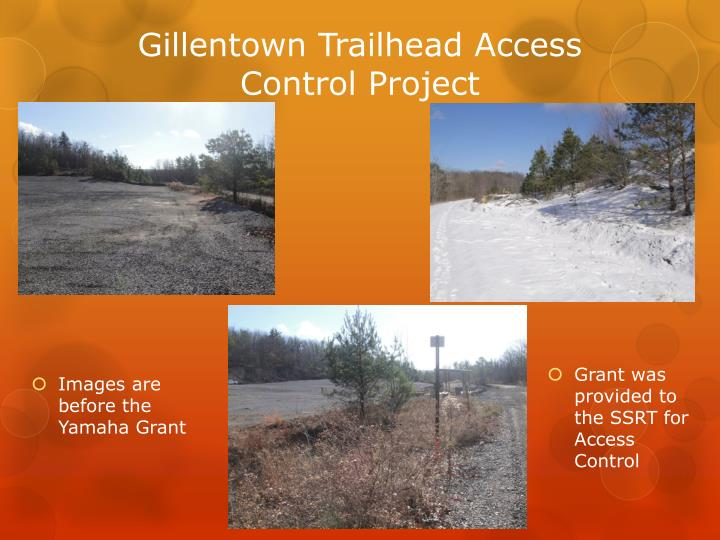 Gillentown trailhead access control project