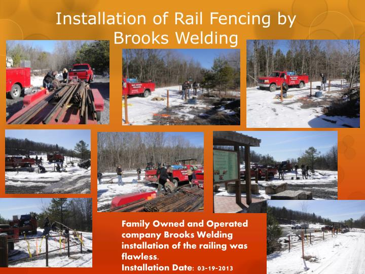 Installation of Rail Fencing by Brooks Welding