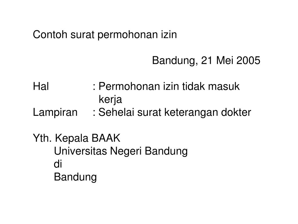 PPT - BAHASA INDONESIA SURAT KELUARGA DAN SURAT DINAS ...