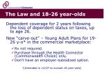 the law and 18 26 year olds