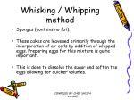 whisking whipping method