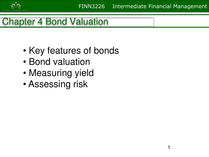 chapter 4 bond valuation n.