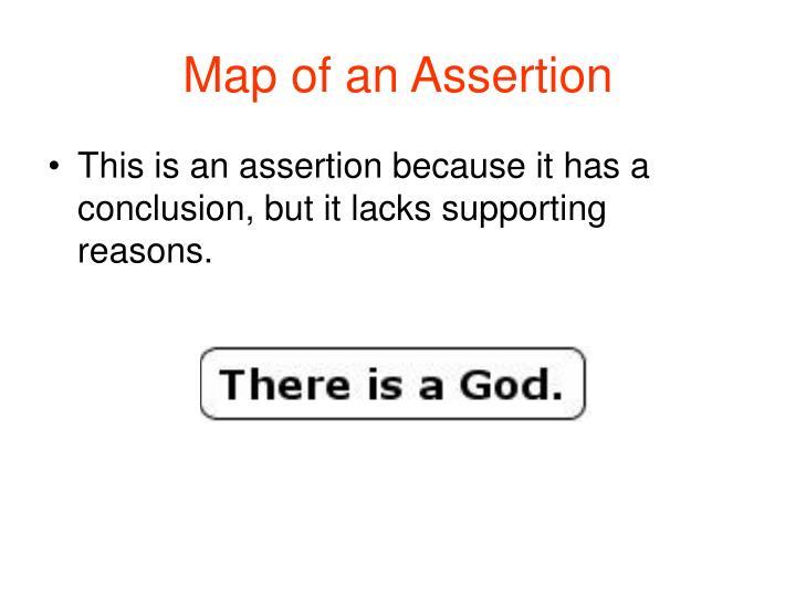 Map of an Assertion