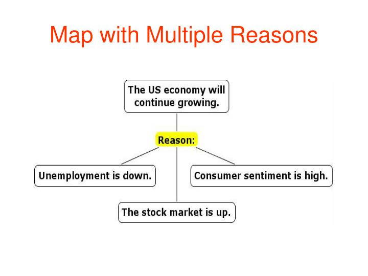 Map with Multiple Reasons