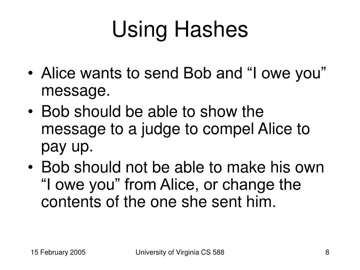 Using Hashes
