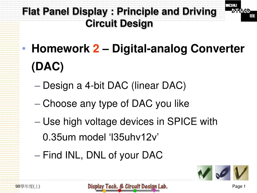 Ppt Flat Panel Display Principle And Driving Circuit Design Voltage N