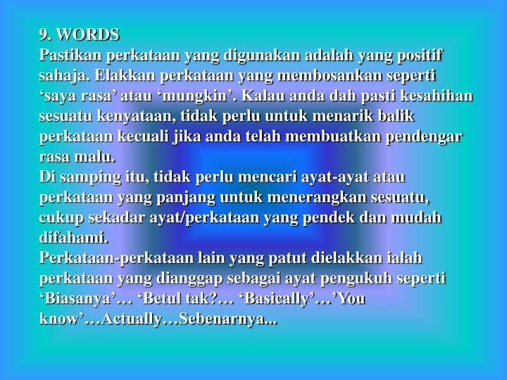 9. WORDS