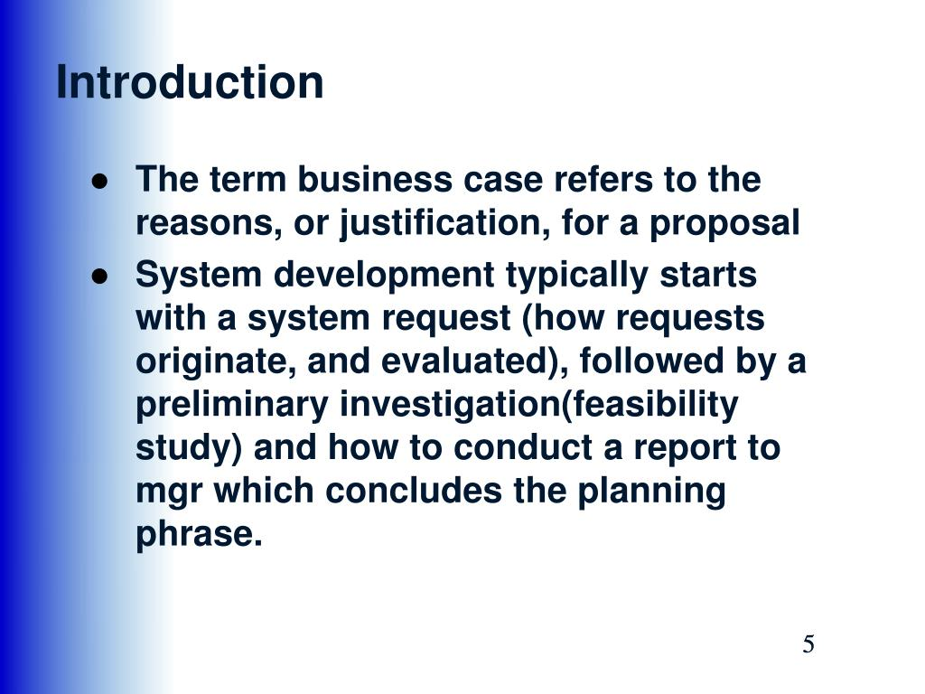 PPT - Chapter 2: Analyzing Business Case Phase 1: Systems