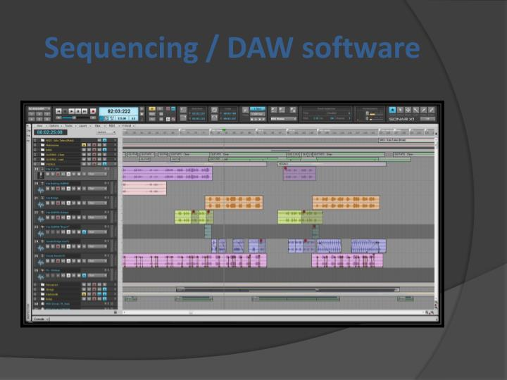 Sequencing / DAW software