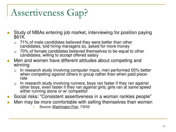 Assertiveness Gap?