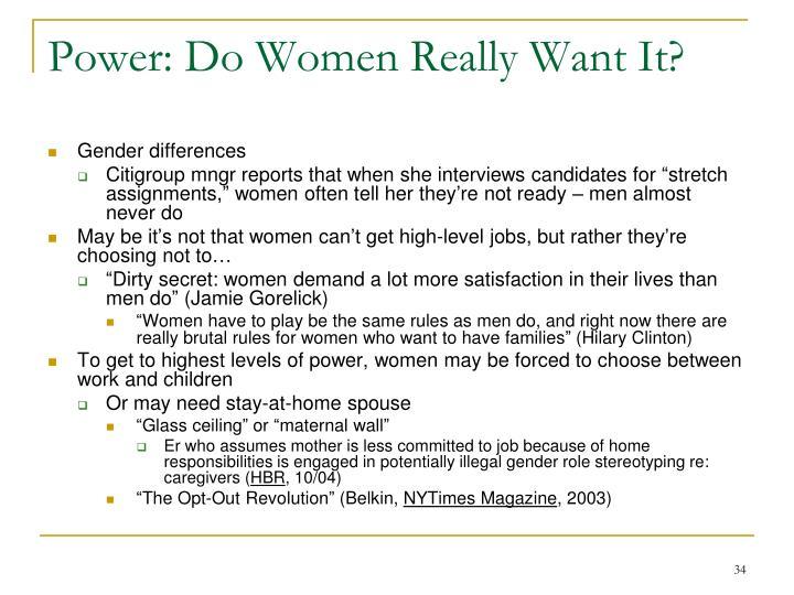 Power: Do Women Really Want It?