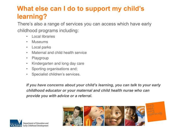 What else can I do to support my child's learning?