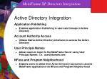 metaframe xp directory integration