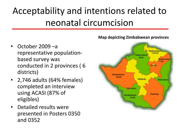 Acceptability and intentions related to neonatal circumcision