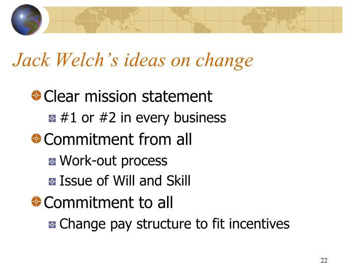 Jack Welch's ideas on change