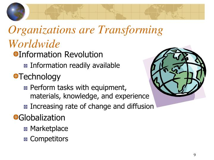Organizations are Transforming Worldwide