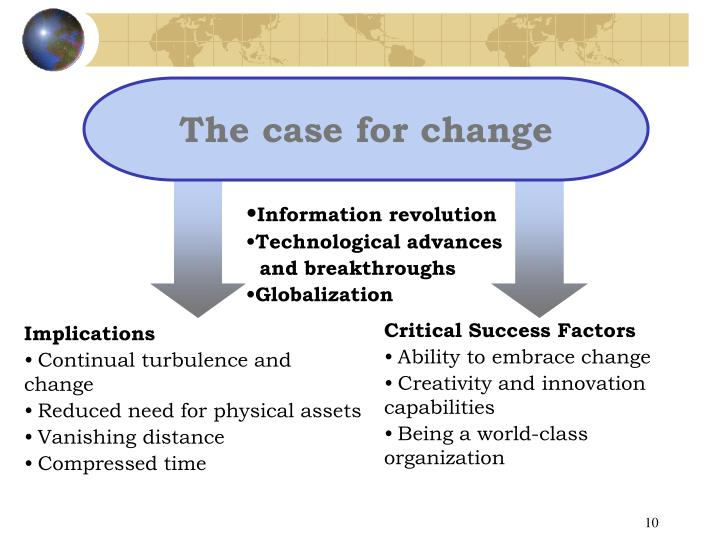 The case for change
