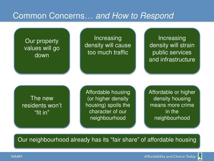 Common Concerns…