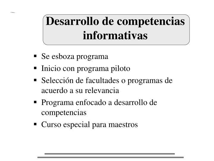 Desarrollo de competencias informativas