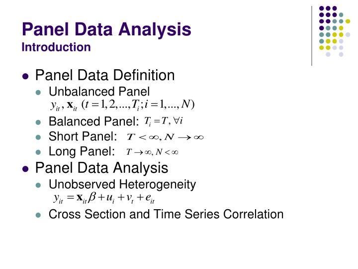 Panel data event study