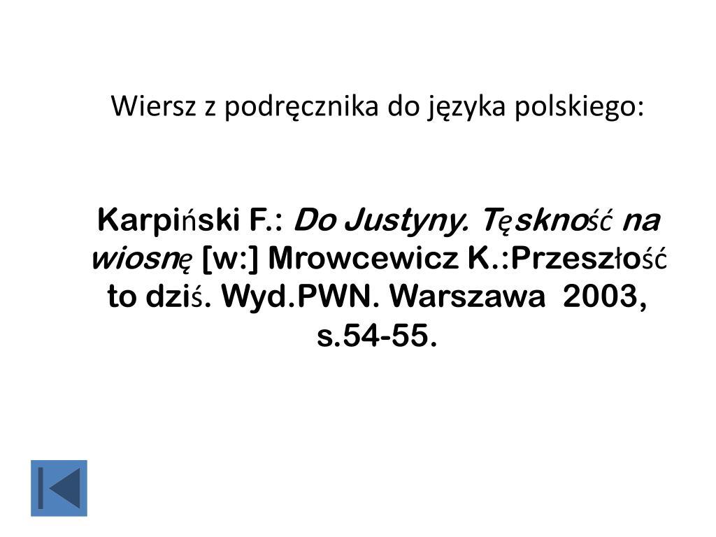 Ppt Bibliografia Załącznikowa Powerpoint Presentation