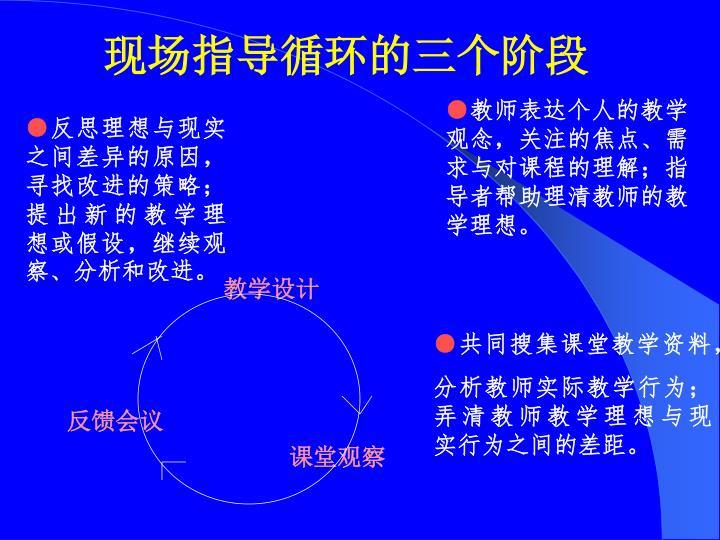 现场指导循环的三个阶段