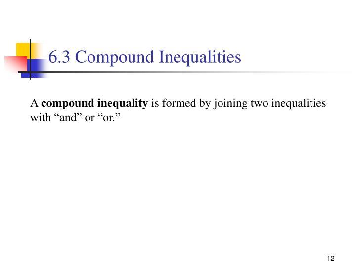 6.3 Compound Inequalities