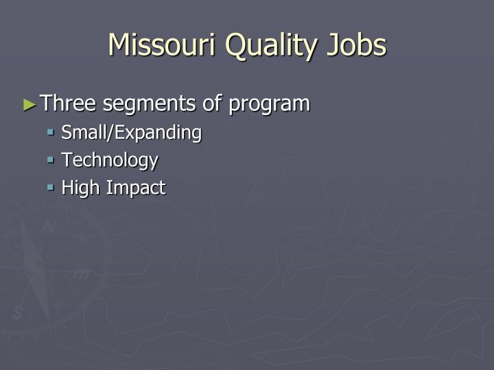 Missouri Quality Jobs