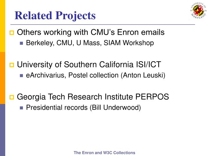 Related Projects