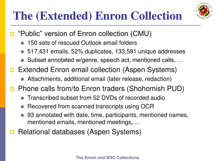 The (Extended) Enron Collection