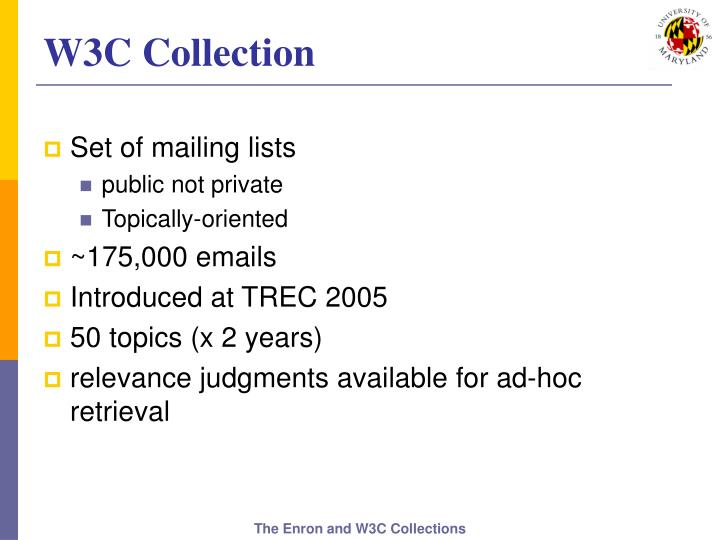 W3C Collection