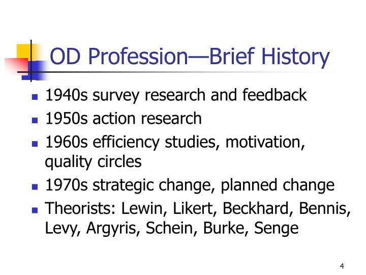 OD Profession—Brief History