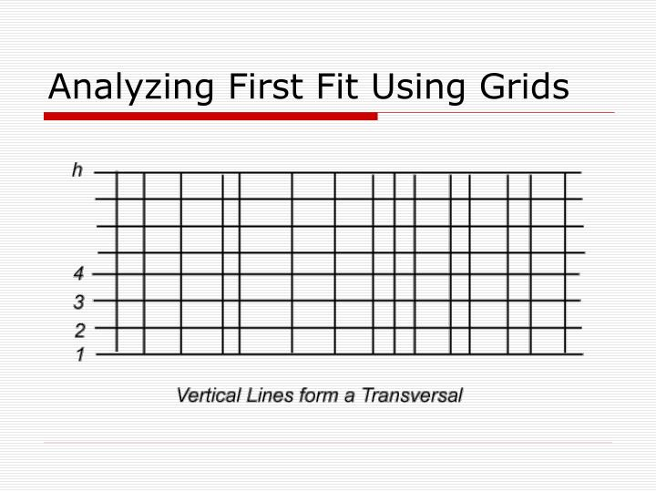 Analyzing First Fit Using Grids