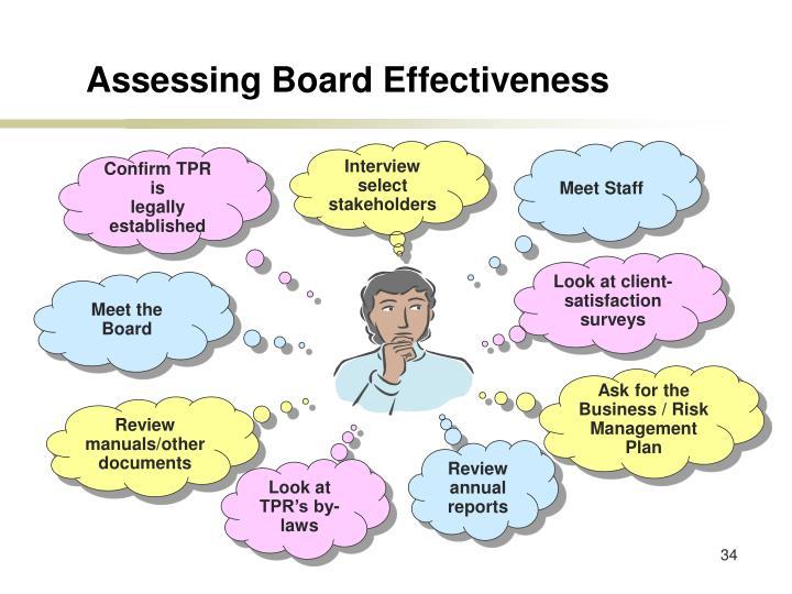 Assessing Board Effectiveness