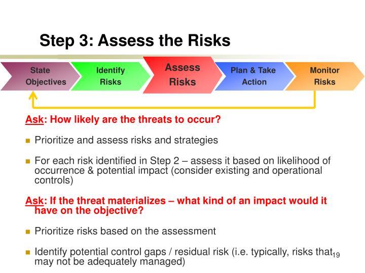Step 3: Assess the Risks