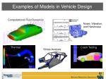 examples of models in vehicle design