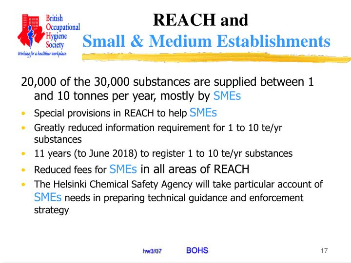 REACH and