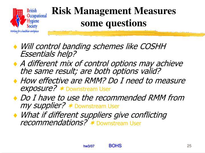 Risk Management Measures