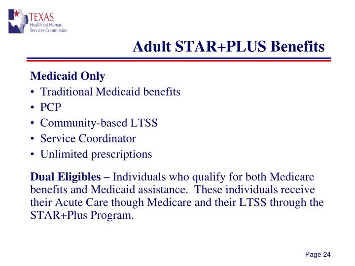 Adult STAR+PLUS Benefits