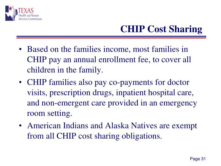 CHIP Cost Sharing