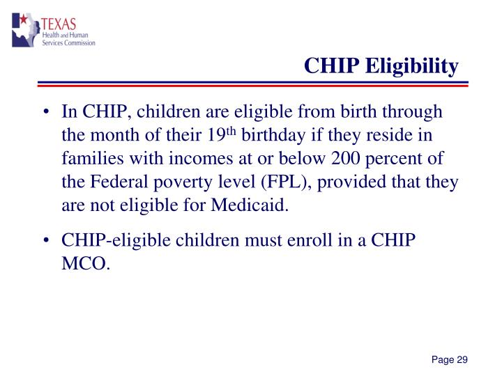 CHIP Eligibility