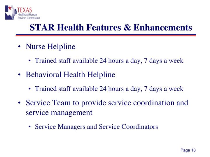 STAR Health Features & Enhancements
