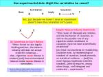 non experimental data might the correlation be causal