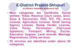 e district project shivpuri 2 e district identified services at csc