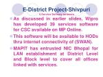 e district project shivpuri 6 service delivery software